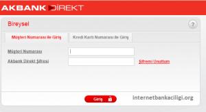 akbank internet bankacılığı